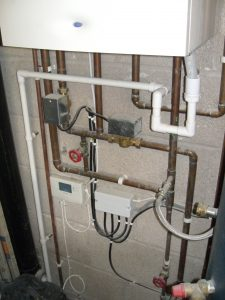 Electrical installation for heating systems