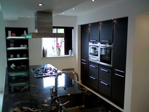 Domestic electrical installation for kitchens