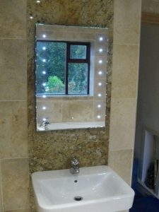 Bathroom lighting installation
