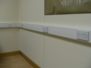Electrical sockets installation for offices
